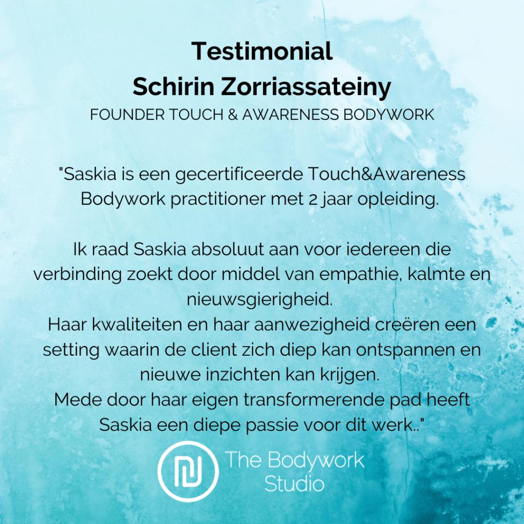 Ervaring review Bodywork Schirin Berkel en Rodenrijs Rotterdam Den Haag